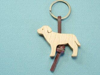 ラブラドール・レトリーバー / 犬 木のキーリングの画像
