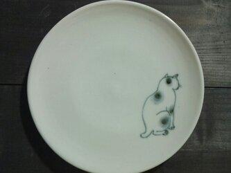 染付5寸猫皿 17の画像