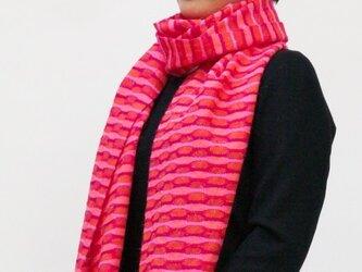 =Sold=赤・ピンク系ロングマフラーの画像