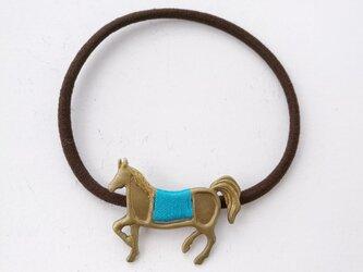 馬ヘアゴム(ライトブルー)の画像