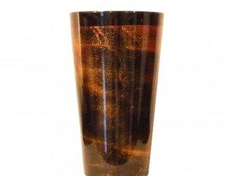 漆磨カップ M 黒(ステンレス二重構造)の画像