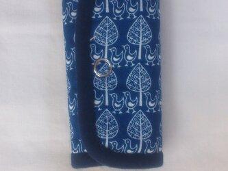 鳥さんのキーケース(紺)の画像