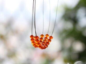 小粒カーネリアンのネックレスの画像