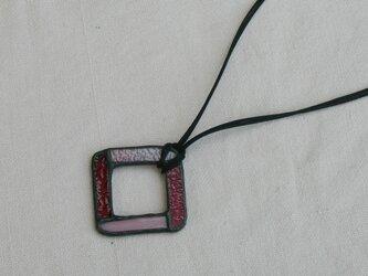 ステンドグラス ペンダント&グラスホルダー 赤の画像