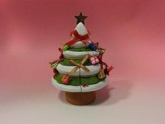 木目込みクリスマスツリーの画像