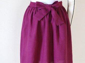 リトアニアリネン ギャザースカートの画像