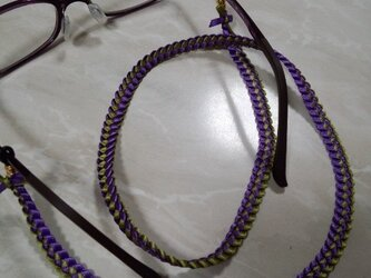 noriko様オーダー品 ハワイアンリボンレイ眼鏡ストラップの画像