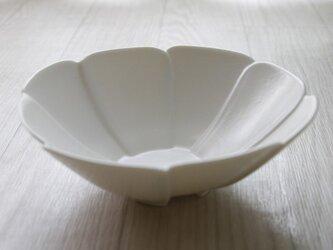 フラワーボウルM(ホワイト)の画像