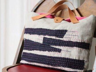 刺し子バッグ「霞」の画像