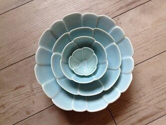 フラワーボウルL(ブルー)の画像