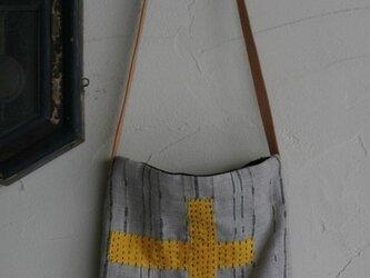刺し子ポシェット「麦藁」の画像