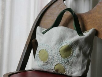 刺し子バッグ「鶯」の画像