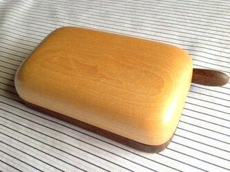 木のバターケース MWの画像
