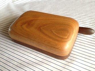 木のバターケース KUWの画像