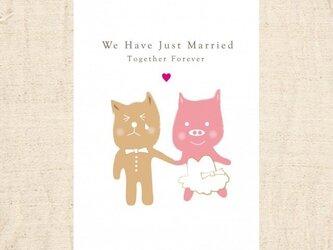 私たち結婚しました。の画像