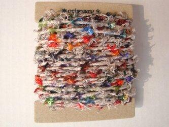 ビビットフラッグヤーンとクリクリキナリ糸の画像