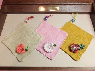 花コースター (3枚セット)の画像