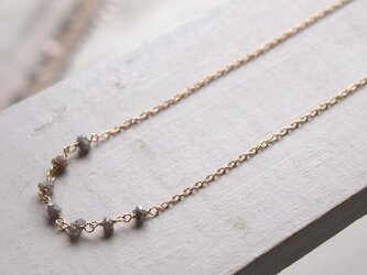 【K14GF】グレーダイヤモンドネックレスの画像