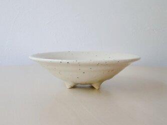 足つき浅鉢(白)の画像