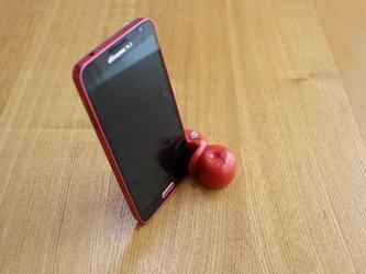 リンゴのスマホスタンド(レッド)の画像
