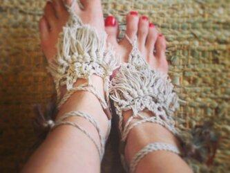 barefoot sandal(white)の画像