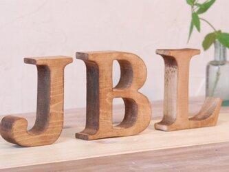 木製 アルファベットオブジェ(アンティークウッド)大文字1文字の画像