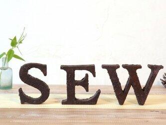 木製 アルファベットオブジェ サビー 大文字(1文字)の画像