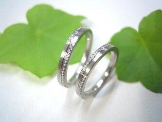 結婚指輪☆プラチナ製 粗仕上げ・上下ミル打ちの画像