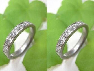 結婚指輪☆プラチナ製 ダイヤモンド&ハーフエタニティリングの画像