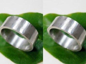 結婚指輪☆プラチナ製 超幅広・超極太・(打ち出し・鎚目・鍛造)の画像