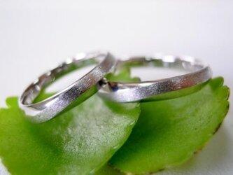 結婚指輪☆プラチナ製 ヒネリ・ツイスト メビウスリング&無限大の画像