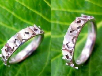 結婚指輪☆プラチナ製 スター・ホシ・星が繋がったリングの画像