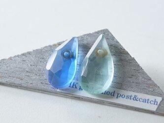 △▶▽ウミノナミナミダ SEA GLASS ピアス - m -の画像