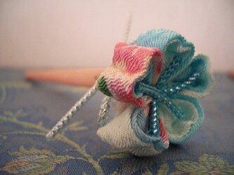 青い桜の花エンピツ(水浅葱色)の画像