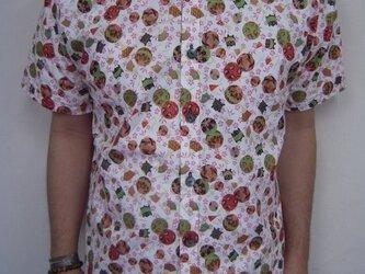 半袖和柄シャツ(桜に毬と扇)の画像