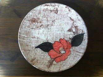 椿紋中皿の画像