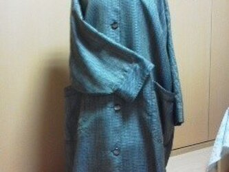 大島紬のコートの画像