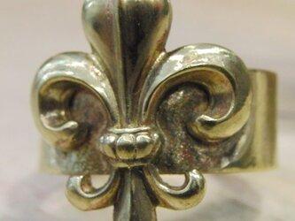 真鍮ブラス製 フレア/百合デザインリング /指輪サイズ1号~40号 まで /タイリング,トゥリングにもの画像