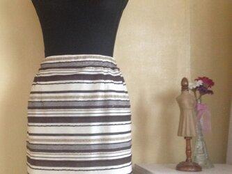 サマー変わり織ボーダー スカートの画像