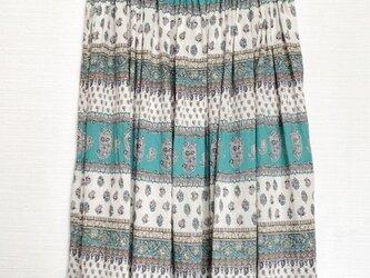 ロングギャザースカート(エスニック柄)の画像