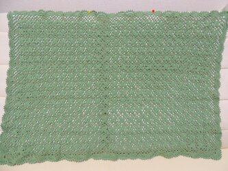 四葉のクローバーモチーフブランケット(中)の画像