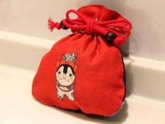 手拭い 巾着(桃太郎)の画像