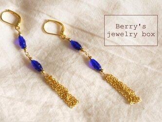 【sale】chain tassel pierceの画像