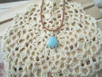 ブルーアラゴナイトのネックレスの画像