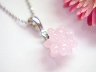 こんぺいとう1粒ネックレス 桜色の画像