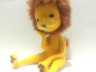 羊毛フェルト「ライオン」の画像