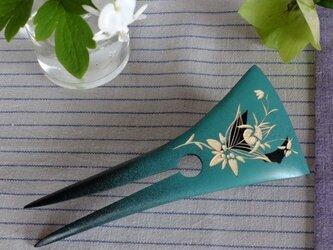 山野草 木のかんざし 青磁色の画像