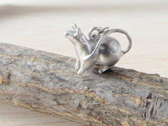 ねずみネックレス(銀)の画像