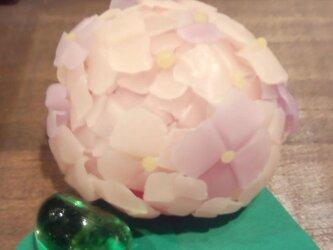 LED-あじさいcandle ピンクにむらさきの画像