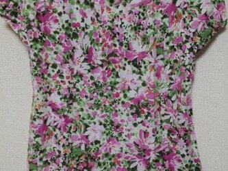 《予約販売》ピンクの花に、爽やかみどりの画像